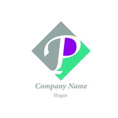 "Modern vector logo of character ""P"""