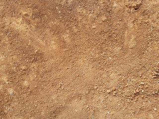 Red Dirt road texture Soil background