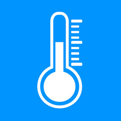 Wonderful design of the thermometer on the blue background
