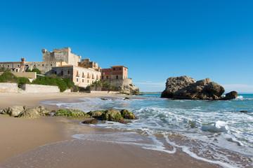 Fotobehang Kasteel Sicilian castles. Falconara Castle, Sutera