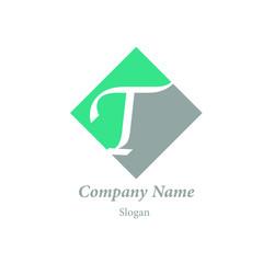 "Modern vector logo of character ""T"""