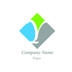 """Modern vector logo of character """"Y"""""""