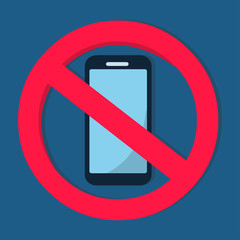 no smartphone allowed sign vector illustration