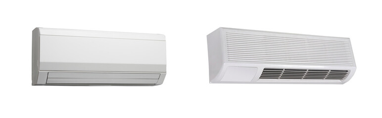 two air-conditioners isolated on white background