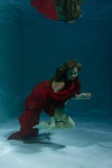 sexy underwater photomodel swimming