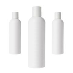 Shampoo bottles isolated on white background