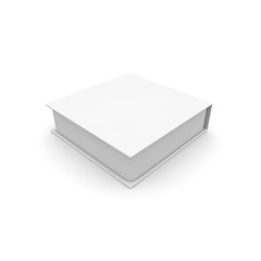 Empty white box for gifts and other goods. Isolated white background. High resolution