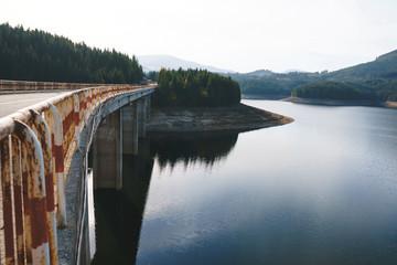 bridge through lake