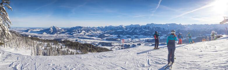 Deutschland, Bayern, Allgäu, Skigebiet Bolsterlang