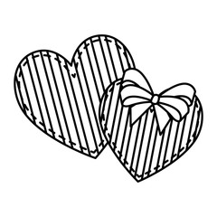 hearts love with stripes valentines card