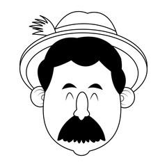 Bavarian man oktoberfest cartoons