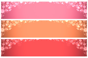 background: pink and orange