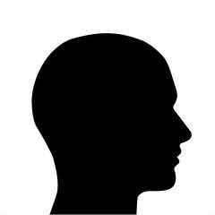 silhouette testa vettoriale maschile