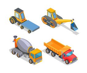 Construction Machines Icons, Working Devices Set
