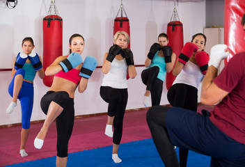Females doing box exercise