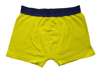 Male underwear isolated - yellow