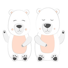 Polar bear Set Vector Illustration