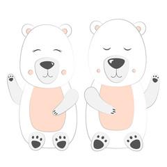 Polar bear Set Vector Illustration
