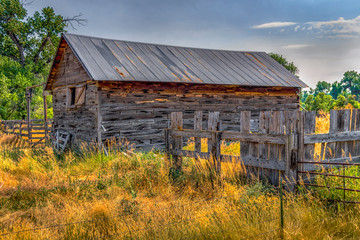 Farm Building and Fence