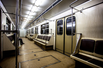 empty carriage Moscow subway