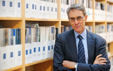 Human Rights Watch Executive Director Kenneth Roth poses for a photograph at the organization offices in Berlin