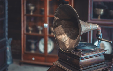 Old Music Player Gramophone