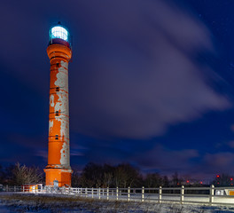 Lighthouse in night, with long exposure
