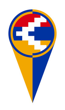 Artsakh Map Pointer Location Flag