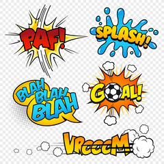 Cartoon Vector Comic Sound effects set3