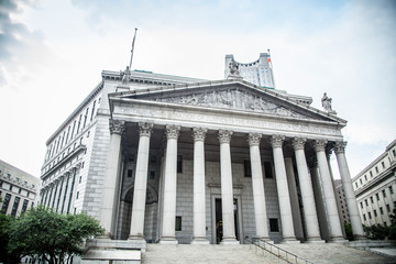 New York City Supreme Court, civil Branch of the Supreme Court of the State of New York during summer daytime