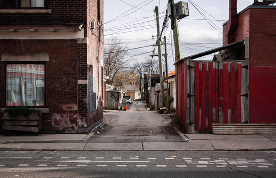 An alley way in the city