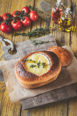 Camembert bread bowl