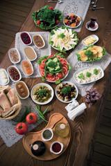 Traditional Turkish Breakfast Table