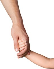 Child Holding the Hand of Father