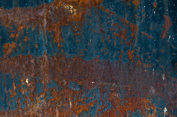 Background from rusty metal. Background, part of a sheet of rusty metal.