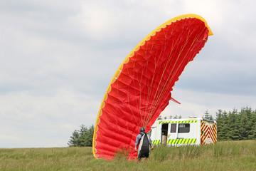 Wall Mural - Paraglider ground handling wing