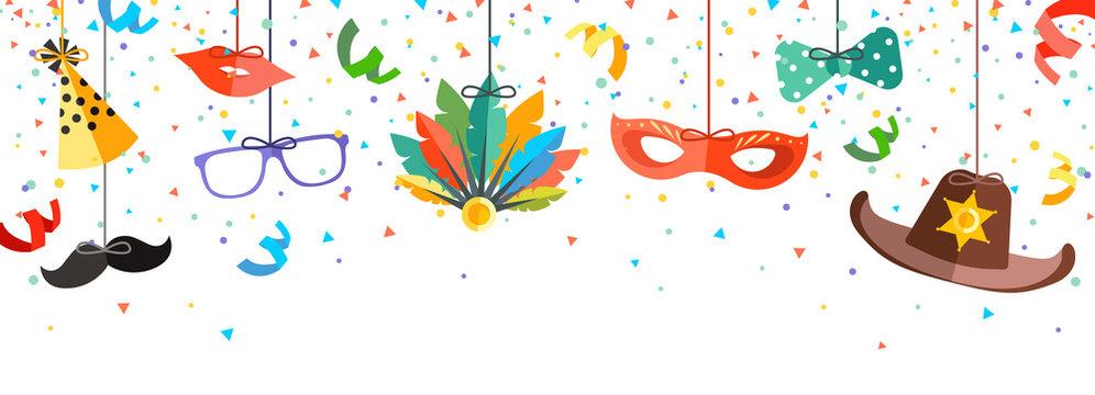 bunter Faschingshintergrund - colorful carnival background