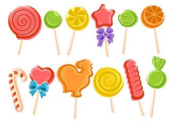 Lollipop set. Vector