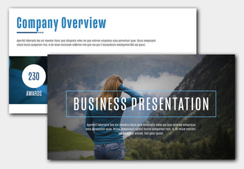 Business Presentation Layout with Teal Accents