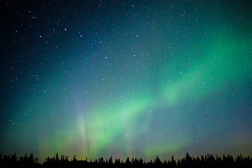 Magical Northern light in far away North of Alaska