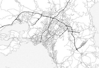 Area map of Athens, Greece Fototapete