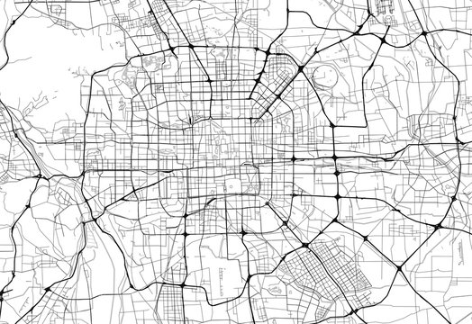 Area map of Beijing, China
