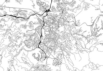 Area map of Jerusalem, Israel