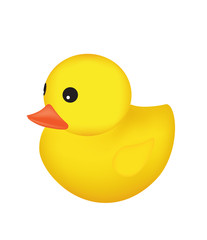 Rubber duck. vector illustration
