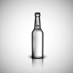 Transparent realistic bottle, vector illustration