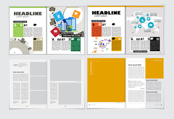 Business brochure layout, vector