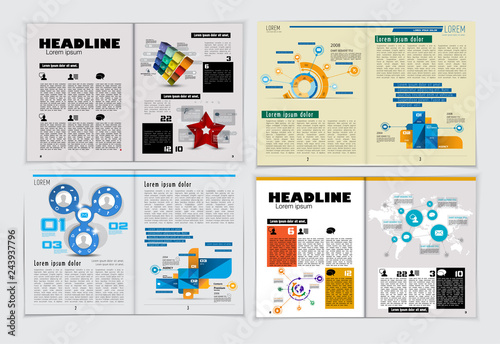Corporate Booklet Or Presentation Templates Easy For Use In Flyer