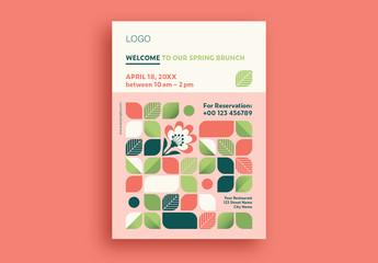 Spring Brunch Flyer Layout