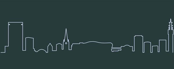 Birmingham Single Line Skyline