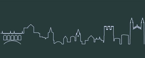 Cambridge Single Line Skyline